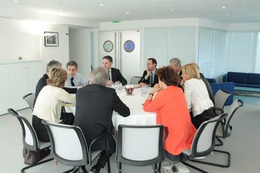 Reunion Sarkozy chefs de file regionaux ES d