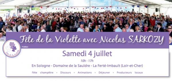 Fête de la Violette 2015 avec Nicolas SARKOZY