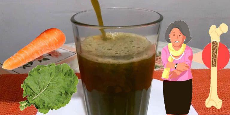 Ao combinar cenoura com couve, você terá um suco rico em cálcio, ferro, enxofre e vitaminas A e C.