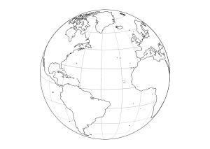 Erde Malvorlage Weltkugel Zum Ausmalen - Malvorlagen