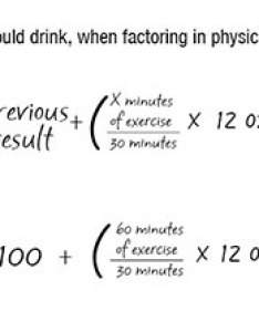 Water exercise calculation also how to calculate much you should drink wellness my rh umsystem
