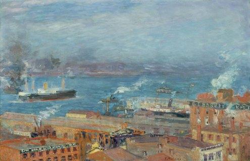 Hudson River by Gari Melchers circa 1907