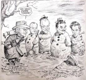 "Political cartoon: ""We Need More Thaws."""