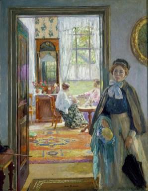 Gari Melchers, The Open Door, ca. 1910 Oil on canvas