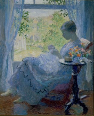 Gari Melchers, Young Woman Sewing, 1919 Oil on canvas