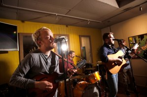 UMW alumni Jackson Wright (foreground, on bass) and Will McCarry (on guitar) are members of the band Wylder.