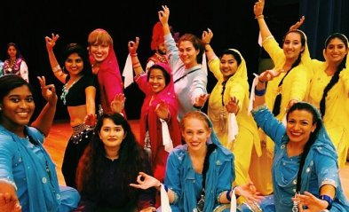 Sociology major Rahima Morshed has been actively involved with the James Farmer Multicultural Center, Eagle Bhangra, BellaCapella and Symfonics. She's also been a committee representative and the chair of the Diversity and Unity Coordinating Committee, which works with student government and university administration on issues of diversity, safety and inclusion. Photos courtesy of Rahima Morshed.
