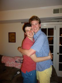 Evan Smallwood (left) and Aaron McPherson. had just started dating in this photo from 2012.