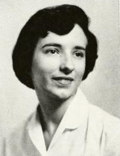 Perkins, shown here as a college junior in the 1960 Battlefield yearbook, she said the liberal arts education she received at Mary Washington gave her the well-rounded education she needed to build a dynamic life and career. Photo courtesy of Simpson Library Photo Archives.