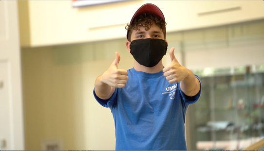 Wearing face masks will be a must when University of Mary Washington students return in August.