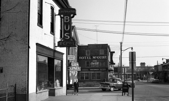 The former Greyhound Bus Depot at Princess Anne and Wolfe streets, seen here in 1965. Freedom Riders went there in 1961, their first stop as they journeyed into the American South. Photo Credit: File / The Free Lance-Star.