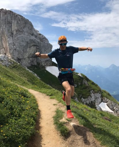 Ambrose and wife Stephanie moved to Annecy, France, for his job with Salomon. Now, he spends his free time trail running through the French Alps. Photo courtesy of Mike Ambrose.