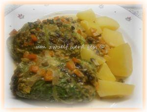 Wirsingroulade mit Gemüse-Füllung