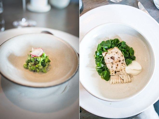 Peas and radishes, turbot and nasturtium at Noma, Copenhagen | un-fold-ed.com