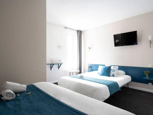 Canapé lit de la chambre supérieure - Un Hôtel sur le Port