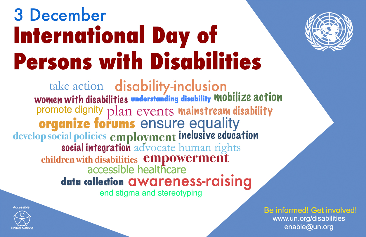 Image result for International Day of Disabled People 2018