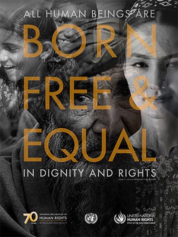 All human beings are born free and equal in dignity and rights