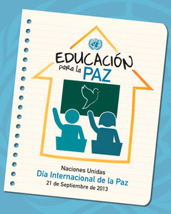 Cartel del Día Internacional de la Paz de 2013