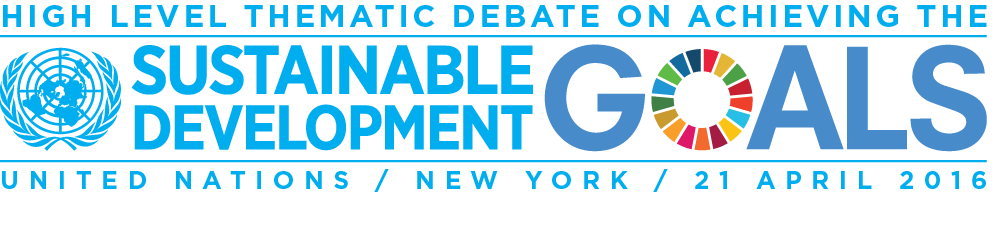 High Level Thematic Debate SDGs Logo