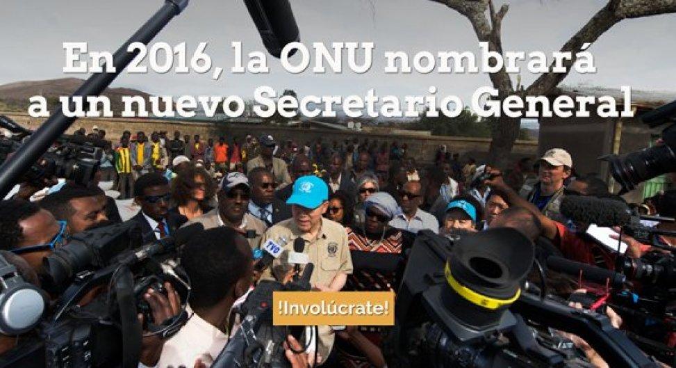 convocatoria a la sociedad civil a enviar preguntas a los candidatos para ocupar el cargo de Secretario General de la ONU