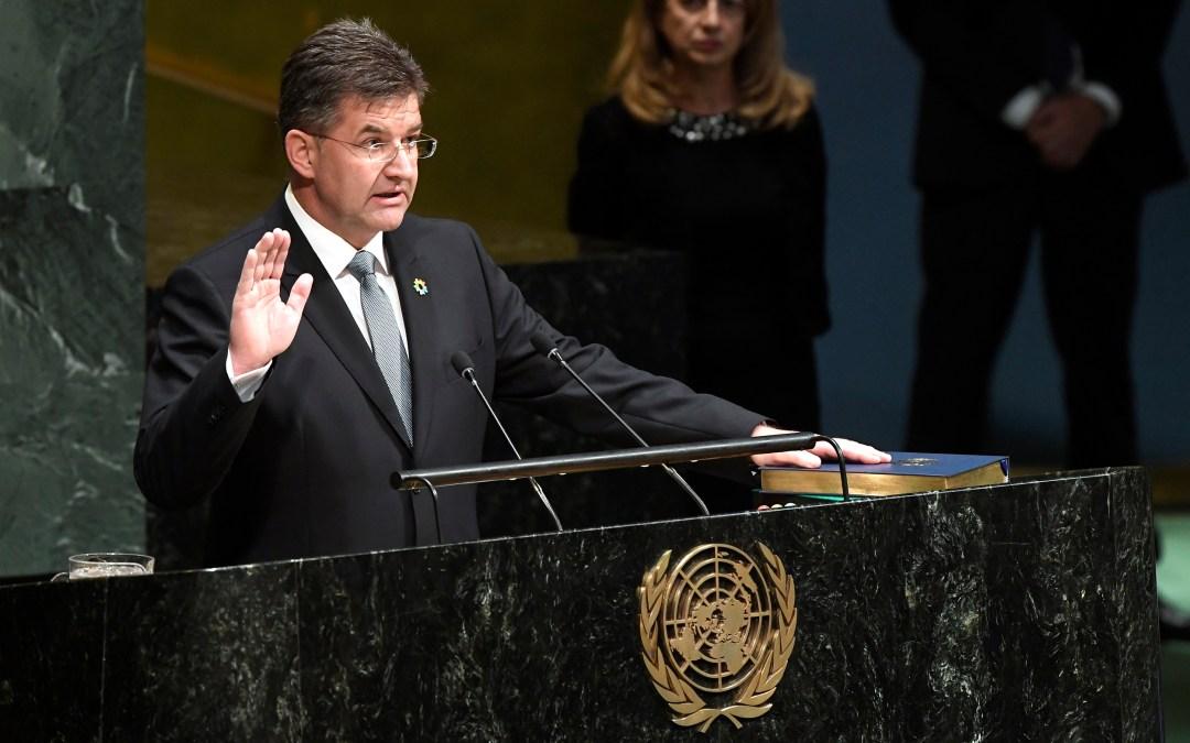 米罗斯拉夫·莱恰克先生阁下当选主席时的致辞