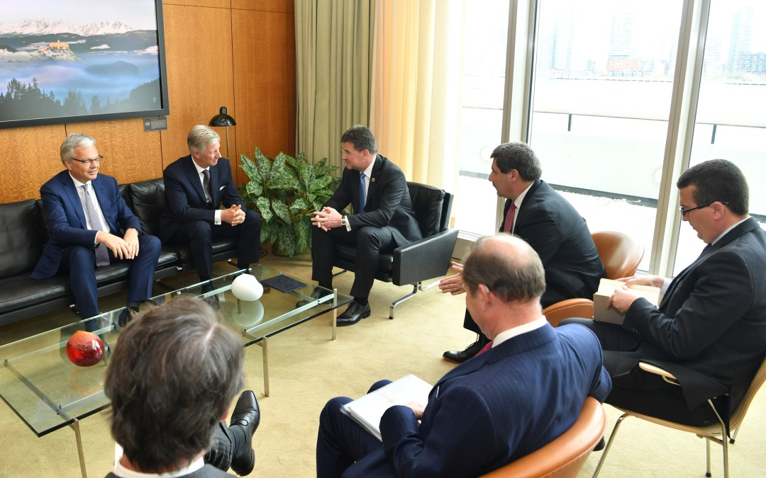 Meeting with the King of the Belgians