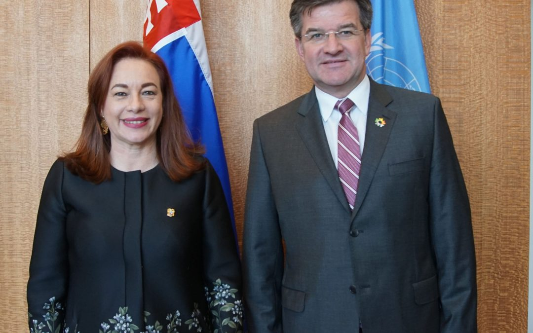 Meeting with H.E. Ms. María Fernanda Espinosa Garcés, Minister of Foreign Affairs and Human Mobility of Ecuador