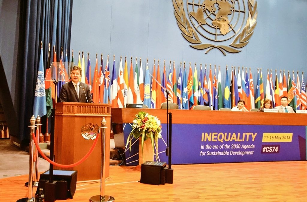PRESS RELEASE: General Assembly President departs Bangkok for Bratislava, calls for inequality to be tackled