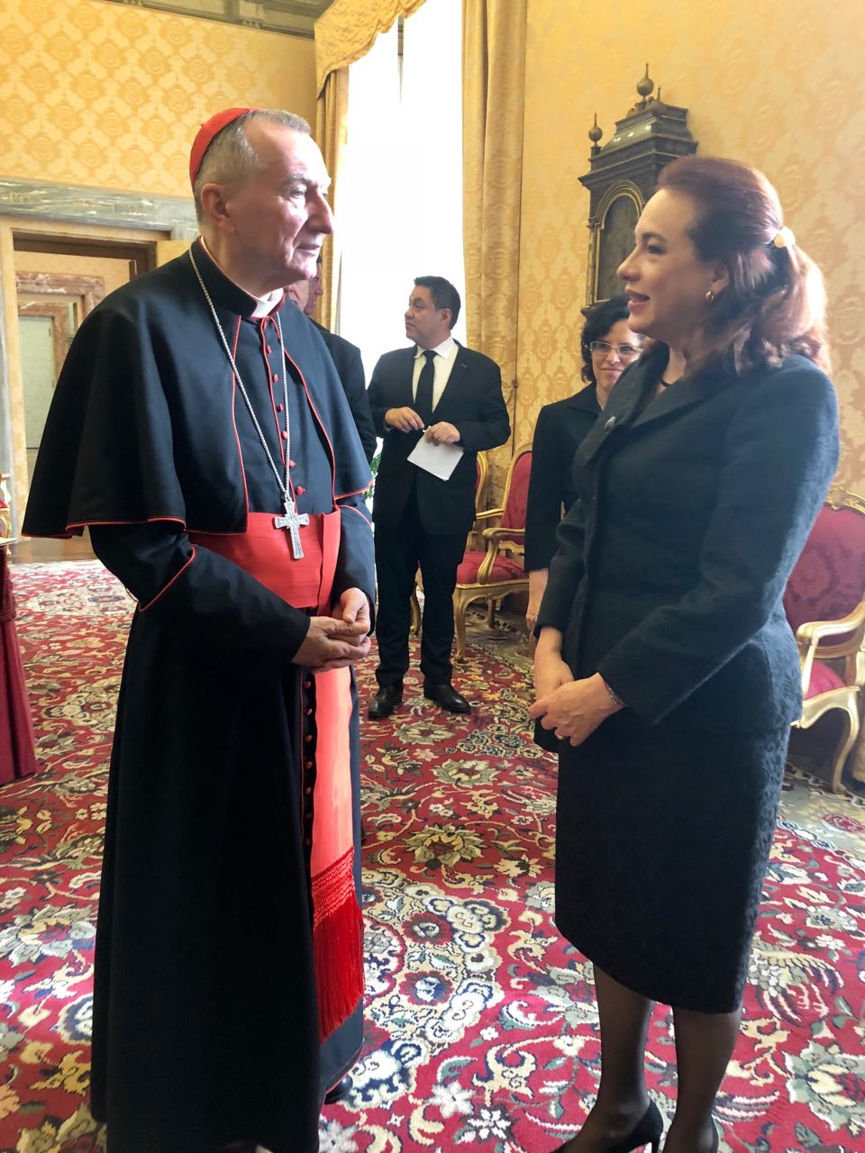 With Secretary of State of the Vatican