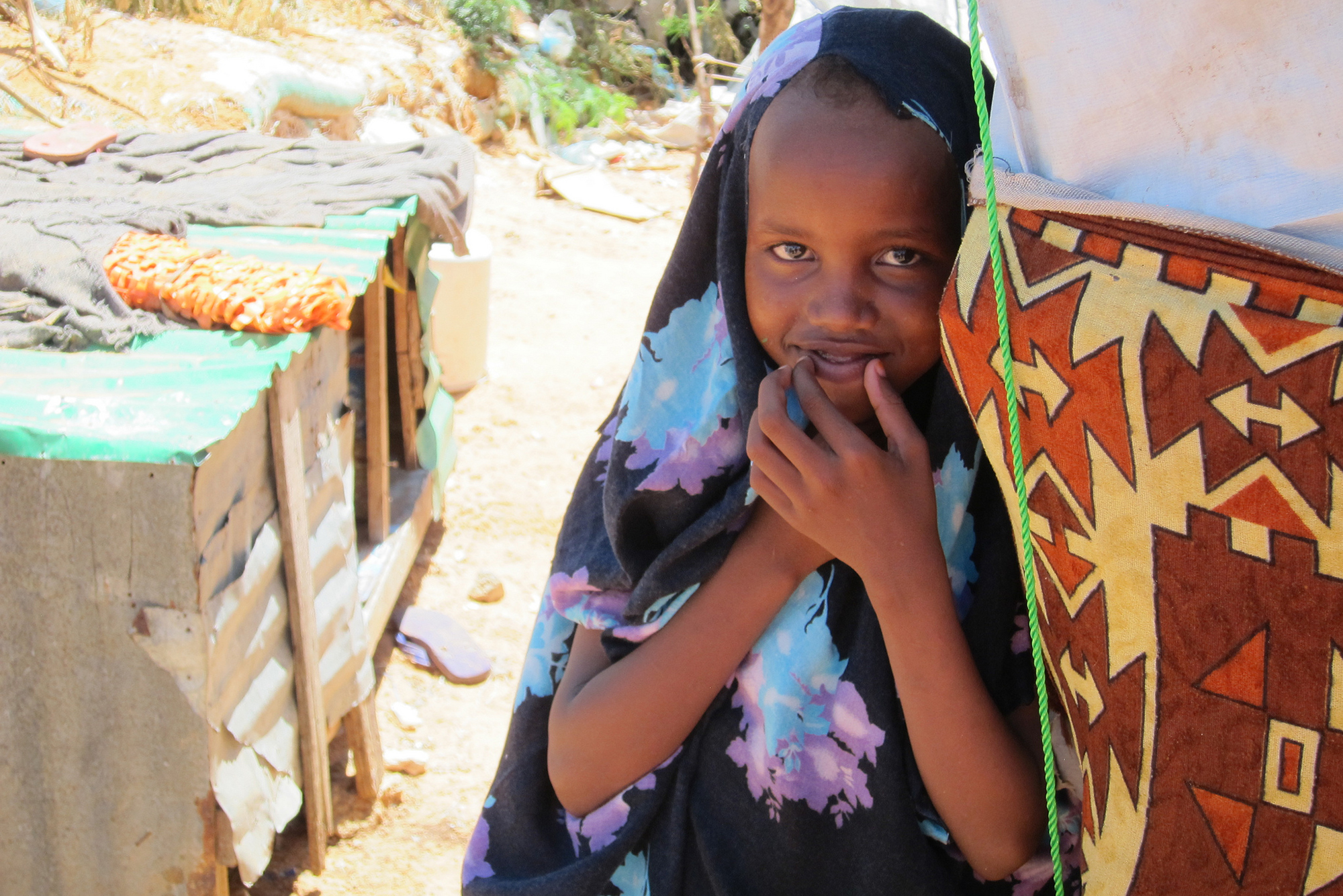 A little girl in Zone K IDP camp