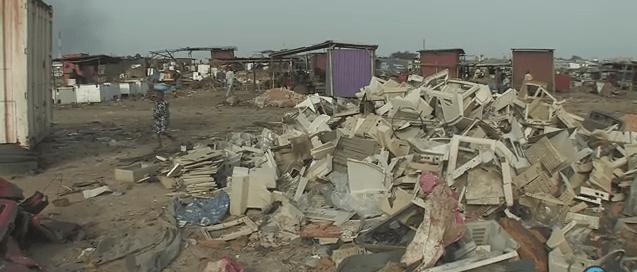 Residuos electrónicos. Captura de vídeo. La ONU en acción.