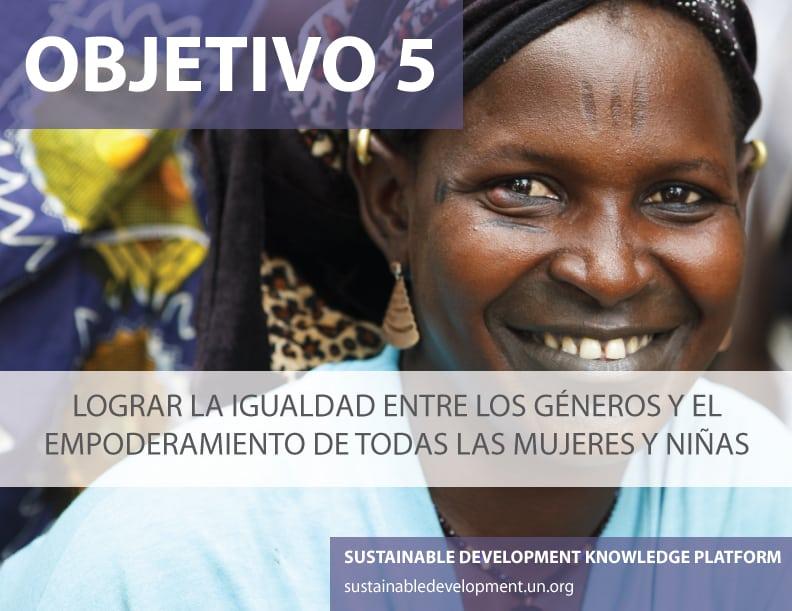 Objetivo 5: Lograr la igualdad entre los géneros y el empoderamiento de todas las mujeres y niñas. Foto ONU