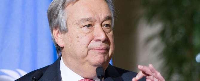 António Guterres, Secretario General de la ONU. Foto de archivo: ONU/Violaine Martin.