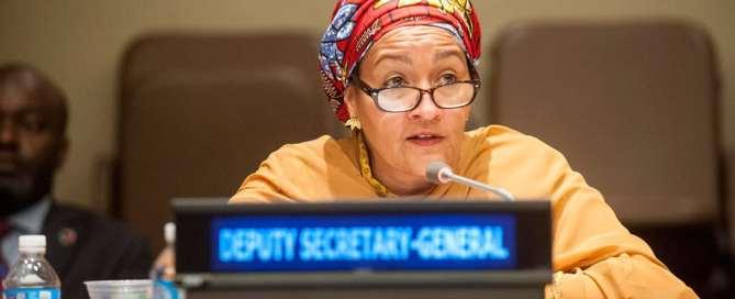 La vicesecretaria general de la ONU, Amina Mohammed. Foto de archivo: UNISDR
