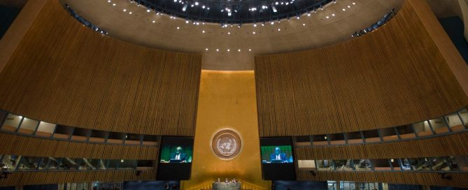 Sala de la Asamblea General de la ONU Foto:ONU/Amanda Voisard