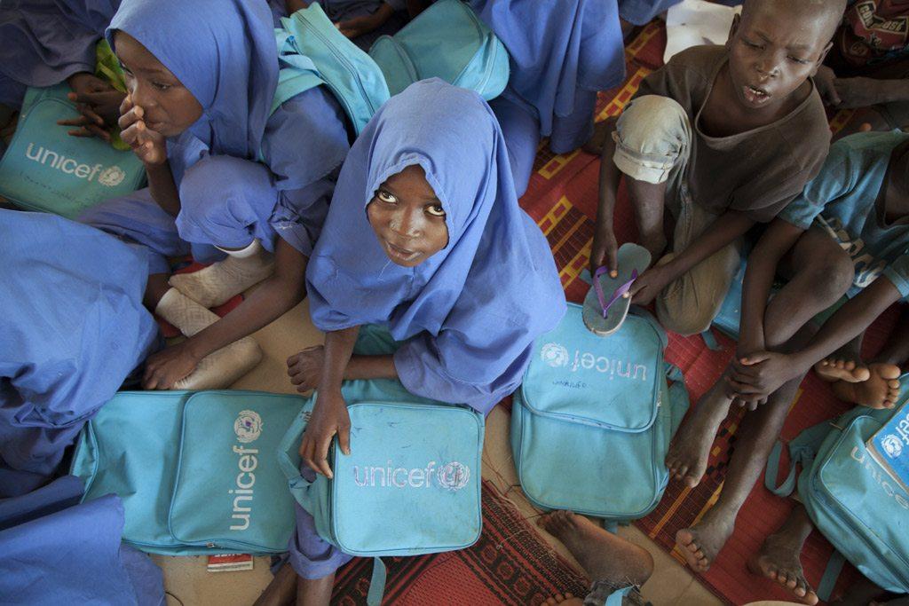 Estudiantes nigerianas de una escuela auspiciada por UNICEF en el estado de Borno, Nigeria. Foto de archivo: UNICEF/Naftalin