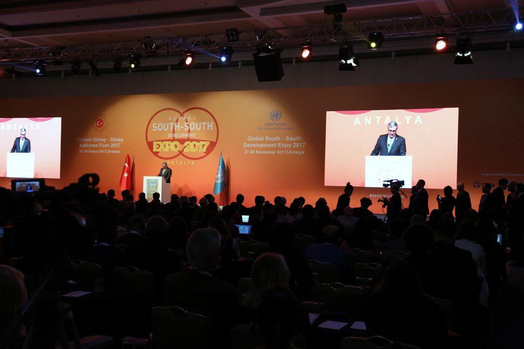 Jorge Chediek, el enviado del Secretario General de la ONU para la Cooperación Sur-Sur, durante la inauguración de la Exposición de Desarrollo Sur-Sur 2017. Foto: DPI / Maoqi Li