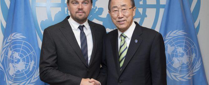 Глава ООН и Леонардо Ди Каприо
