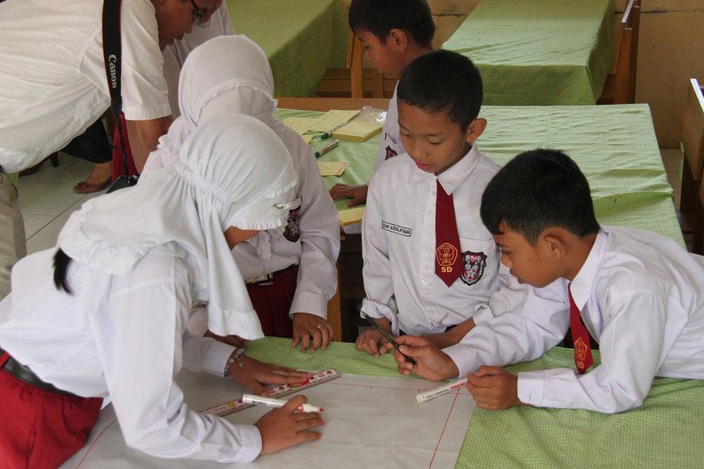 School children in Aceh, Indonesia