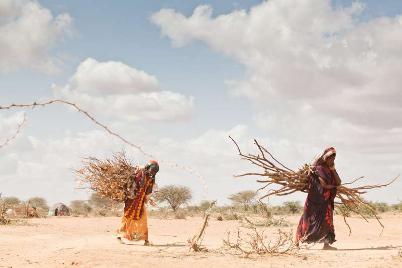 Climate change is a growing cause of displacement in Africa, where some areas have been devastated by drought. Photo: UNHCR/B. Bannon