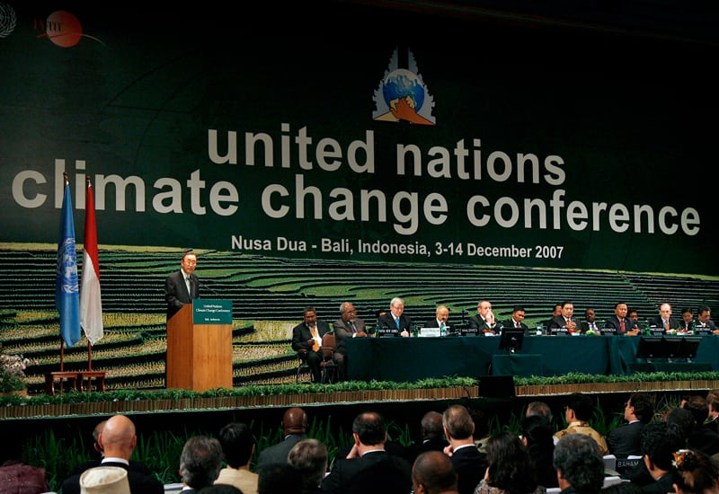 Photo: Mr. Ban opens the Bali Climate Summit.