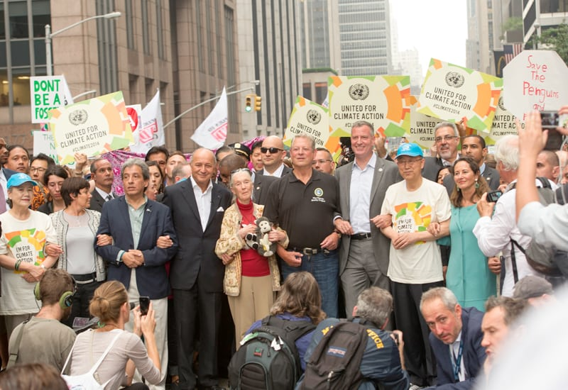 Photo: Mr. Ban joins the People's Climate March.