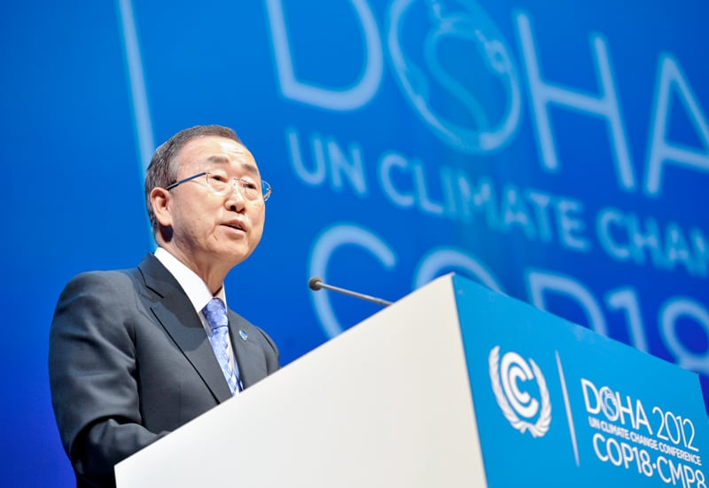 Photo: Mr. Ban opens the Doha Climate Summit.