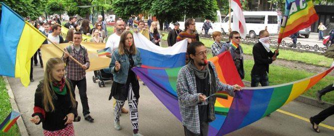 Photo: Lesbian, gay, bisexual, transgender and intersex (LGBTI) pride march.