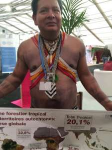 Photo: COP21 attendees representing small island nations can be spotted in Paris.
