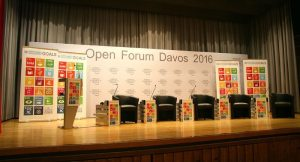 Photo: The stage is set for a panel discussion among SDG Advocates.