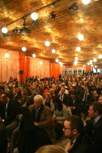Photo: The audience watches the SDG Advocates panel in Davos, Switzerland.