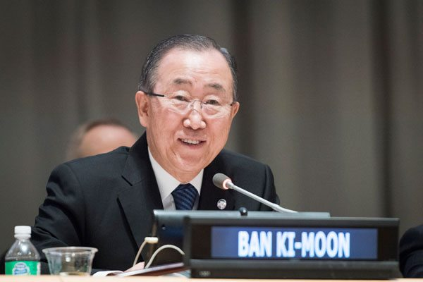 Photo: Secretary-General Ban Ki-Moon delivers a welcome address at the 2016 Investor Summit on Climate Risk. The event was co-hosted by United Nations Foundation, Ceres and the United Nations Office for Partnerships.
