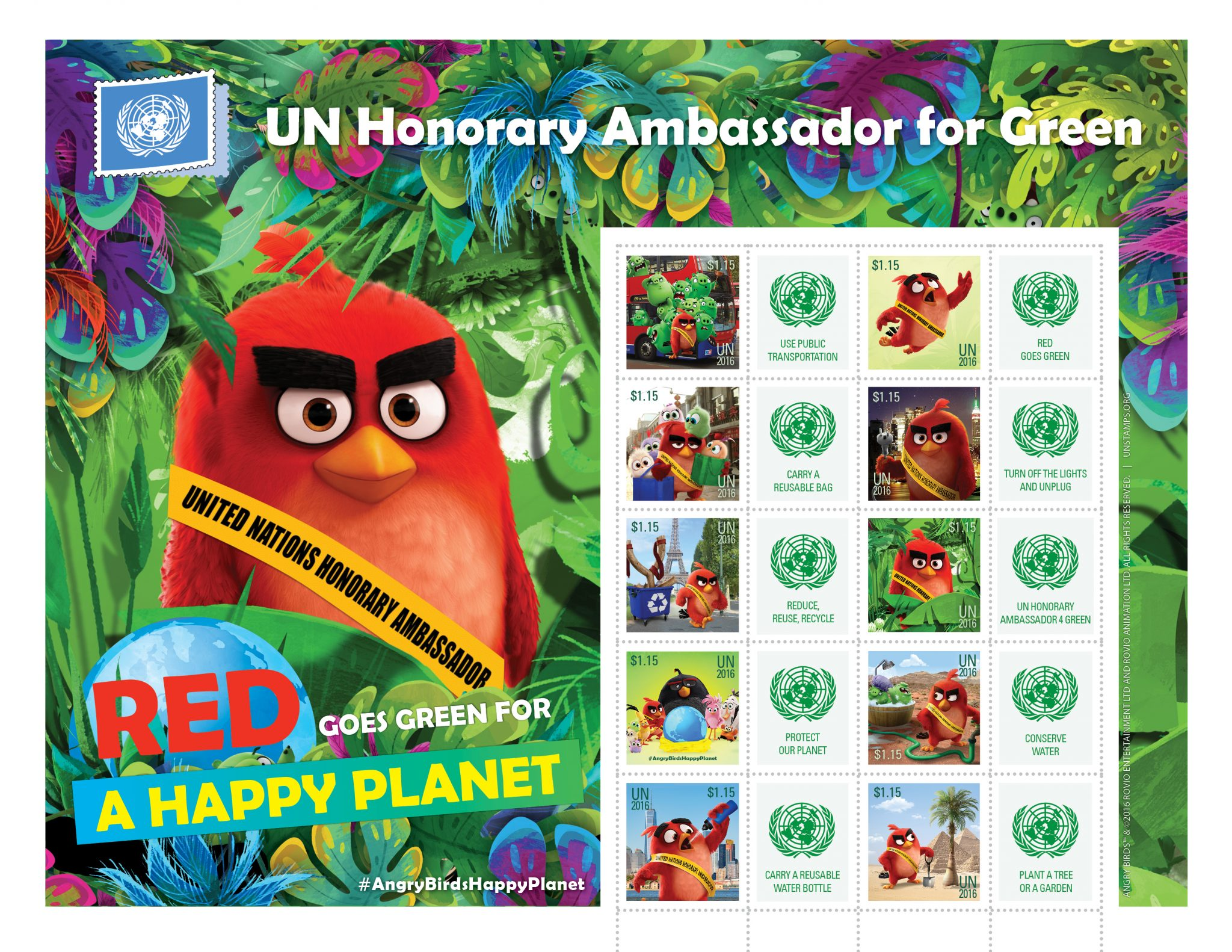 UNPA launches special stamps featuring Angry Bird