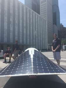 Photo: This solar car built by high school students at Tottenville High School in Staten Island, NY, can run 100 miles in the dark!